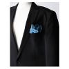 妖精の羽ポケットチーフ:ターコイズブルーを再入荷